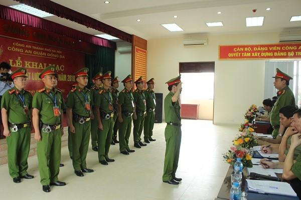CSKV CAP Thịnh Quang thi chấp hành điều lệnh CAND