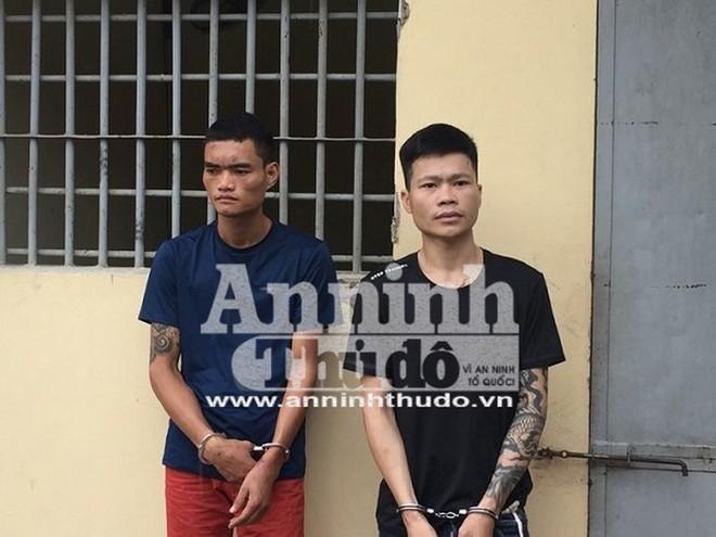 Hai đối tượng Phùng Minh Đạt (trái), Bùi Trường Nguyên (phải)