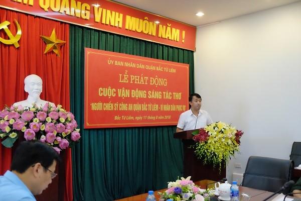 Ông Lưu Ngọc Hà, Phó Chủ tịch UBND quận Bắc Từ Liêm, Trưởng ban tổ chức phát động cuộc thi