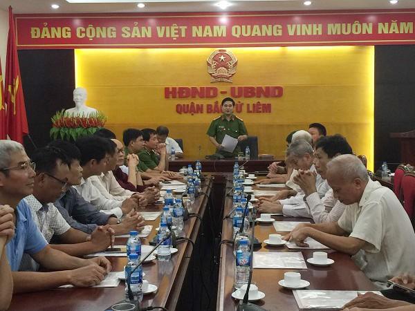 CAQ Bắc Từ Liêm gặp mặt cán bộ sĩ quan hưu trí và cán bộ đang nghỉ chờ hưu nhân dịp kỷ niệm ngày Truyền thống lực lượng CAND