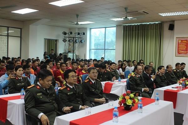 Toàn cảnh lễ xuất quân Đoàn thể thao CAND tham dự Đại hội thể thao toàn quốc