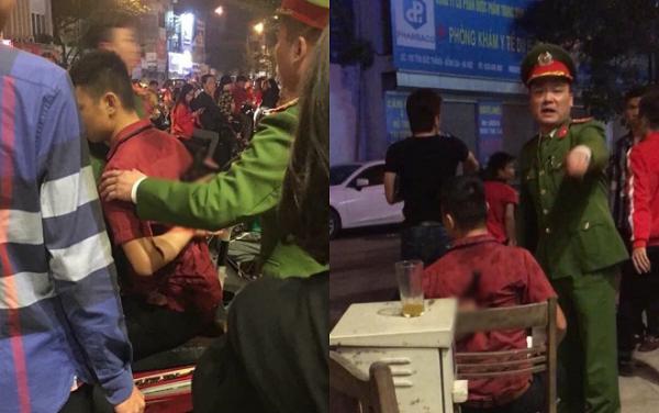 Nam thanh niên bị đâm dao vào lưng được lực lượng Công an và người dân đưa đi cấp cứu