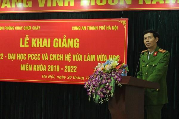 Đại tá, PGS,TS Vũ Văn Bình, Phó Hiệu trưởng Đại học PCCC