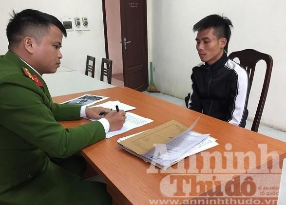 Cơ quan Công an lấy lời khai của đối tượng Nguyễn Văn Cường