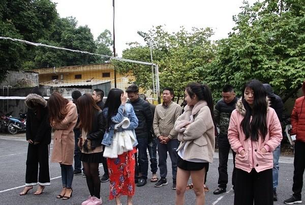 Nhóm thanh niên sử dụng ma túy trong quán karaoke bị bắt giữ