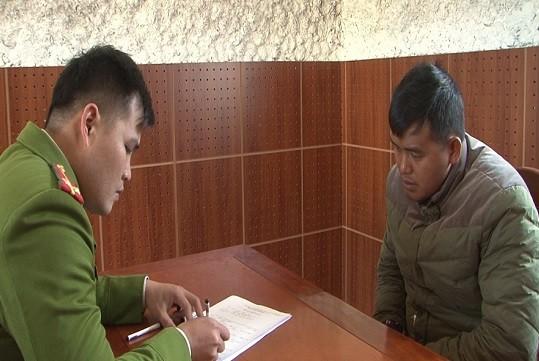 Cơ quan Công an lấy lời khai của đối tượng Liễu Văn Thông