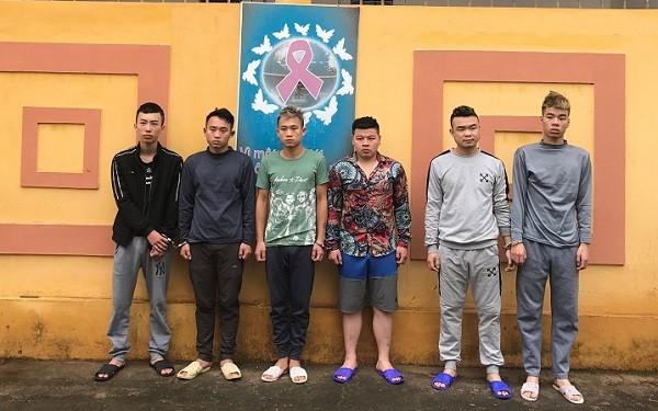 6 đối tượng bị bắt giữ