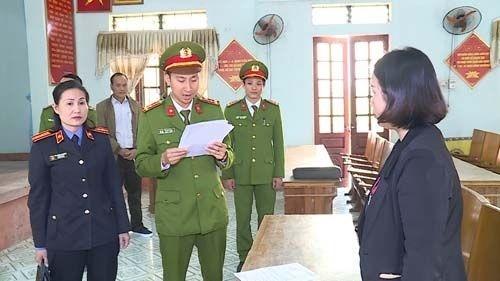 CQĐT thực hiện biện pháp tố tụng đối với 2 cựu cán bộ xã Quảng Châu