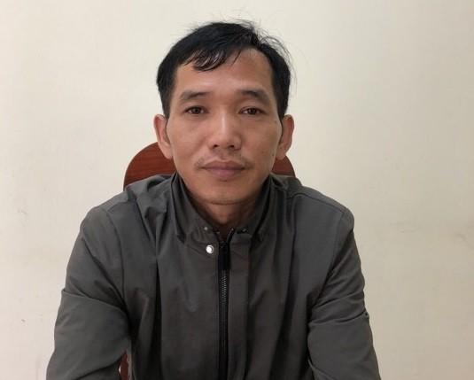 Tài xế Phan Thanh Phú tại cơ quan công an