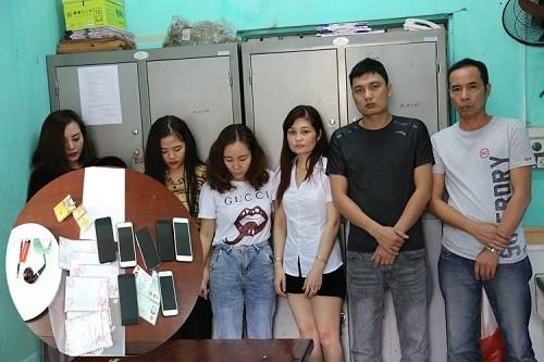 Nhóm thanh niên bị bắt giữ