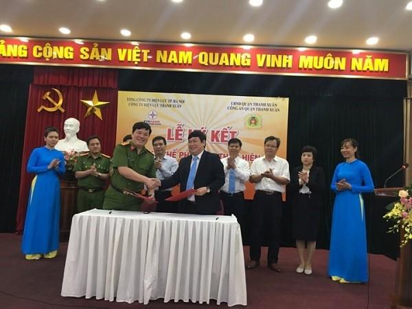 CAQ Thanh Xuân ký kết quy chế phối hợp với Công ty Điện lực Thanh Xuân