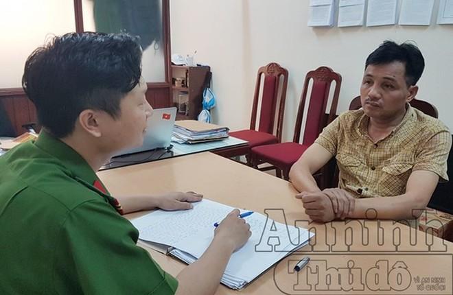 Cơ quan công an lấy lời khai của đối tượng Đỗ Xuân Tuyên
