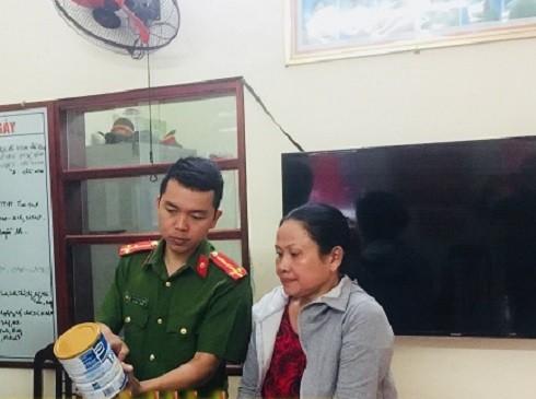 Đối tượng Nguyễn Thị Kim Oanh bị bắt giữ