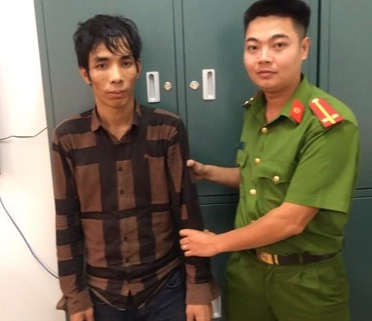 Đối tượng Nguyễn Hoàng Long bị bắt giữ