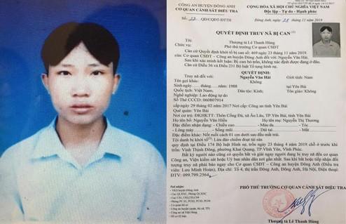 Đối tượng Nguyễn Văn Hải bị truy nã