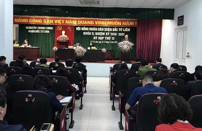 Khai mạc kỳ họp thứ 13 HĐND quận Bắc Từ Liêm khóa II, nhiệm kỳ 2016-2021
