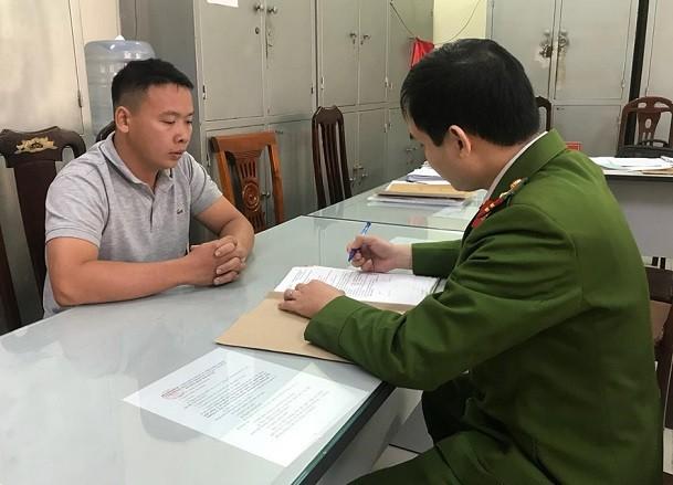 Cơ quan công an lấy lời khai của đối tượng Trần Thanh Cường