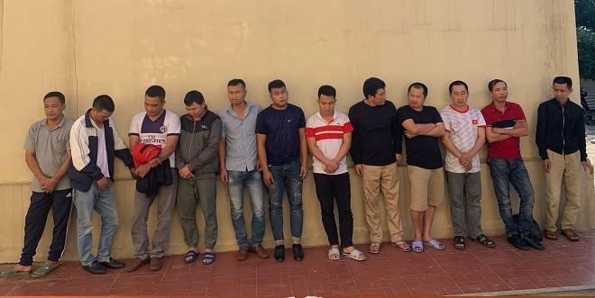 Nhóm đối tượng đánh bạc bị bắt giữ