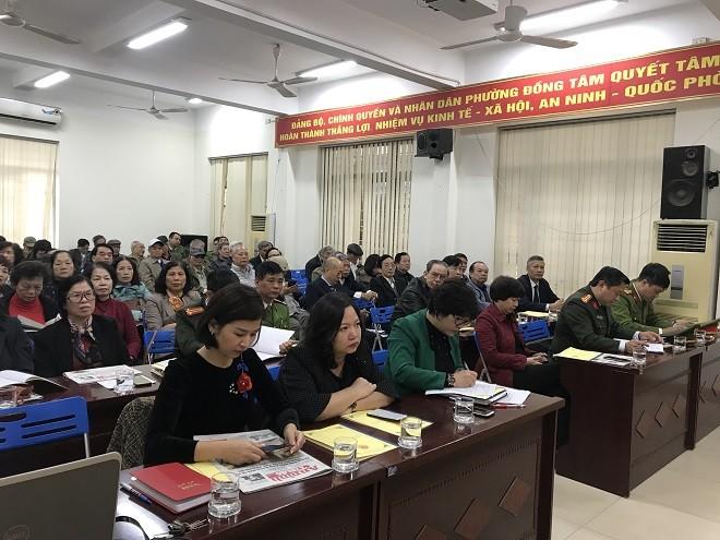 Hội nghị tổng kết phong trào toàn dân bảo vệ an ninh Tổ quốc phường Đồng Tâm