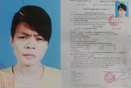Quyết định truy nã Nguyễn Phú Thanh