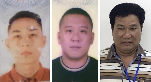 3 bị can bị khởi tố gồm: Mai Tiến Dũng (áo đỏ), Nguyễn Bảo Trung (áo đen)