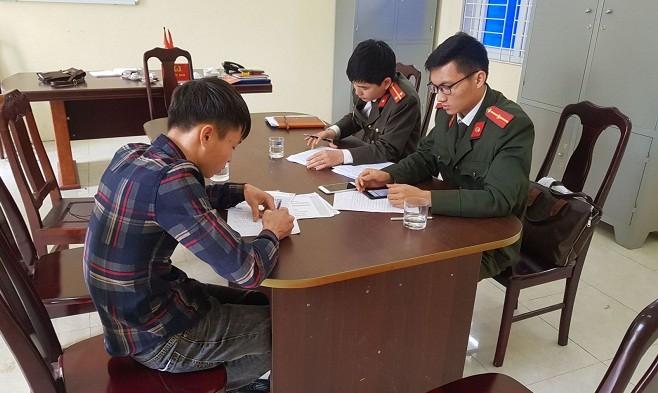 Công an huyện Triệu Sơn đã mời Trần Xuân Minh đến làm rõ