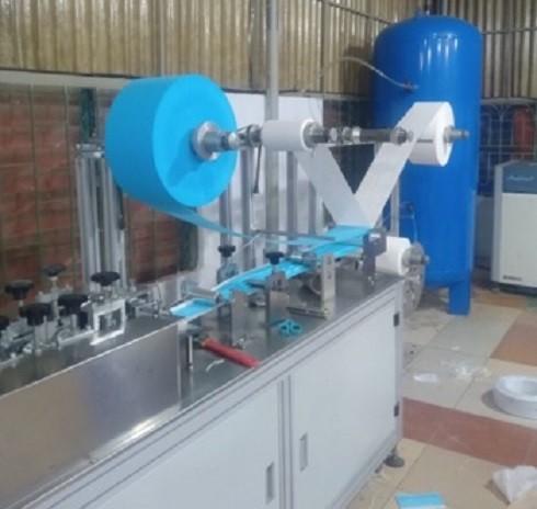 Hệ thống máy móc sản xuất khẩu trang