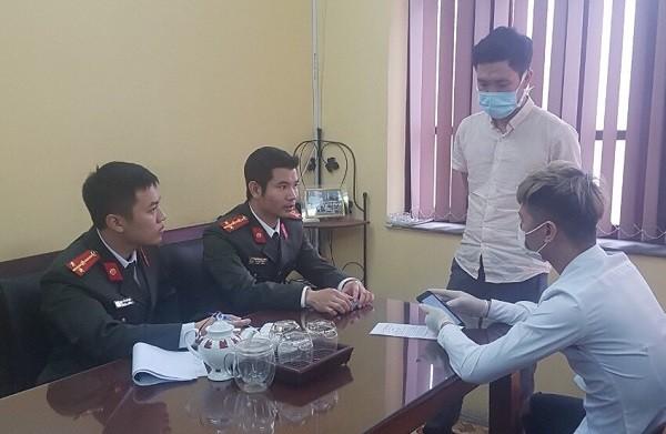 Công an quận Ba Đình làm việc với người tung tin thất thiệt