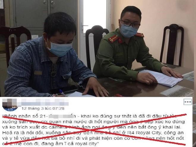 Lực lượng Công an lập hồ sơ xử lý trường hợp tung tin sai sự thật