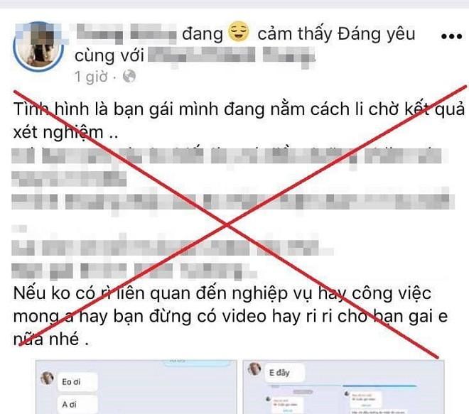 Nội dung sai sự thật được đăng tải trên mạng xã hội