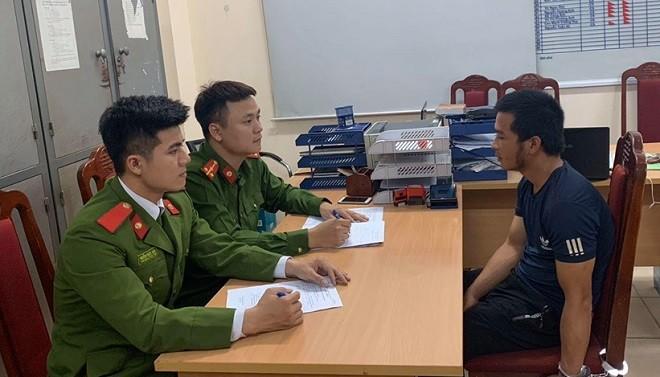 Cơ quan công an lấy lời khai Phạm Văn Hiệp