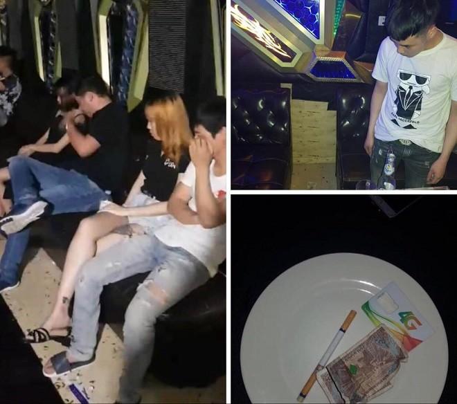 Các nhóm thanh niên tụ tập sử dụng ma túy trong quán karaoke