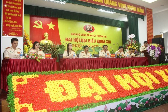 Đại hội đại biểu Đảng bộ Công an huyện Thường Tín nhiệm kỳ 2020-2025
