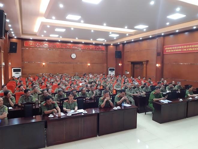 Hơn 200 cán bộ bảo vệ dân phố tham gia tập huấn