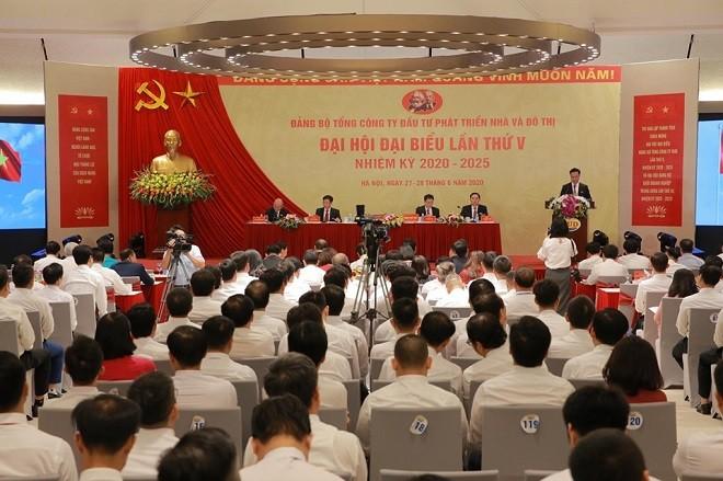 Toàn cảnh đại hội Đảng bộ Tổng công ty HUD