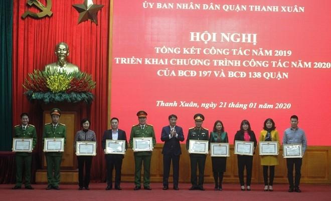 Hội nghị triển khai công tác năm 2020 của Ban Chỉ đạo 197 và 138 quận Thanh Xuân