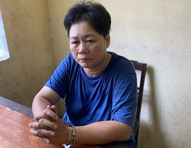 Đối tượng Nguyễn Thị Thúy bị bắt giữ