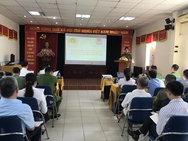 Hội nghị tuyên truyền phòng chống tội phạm cướp tài sản tại ngân hàng, hiệu vàng, quỹ tiết kiệm trên địa bàn phường Ngọc Khánh