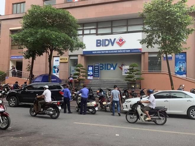 Ngân hàng BIDV Chi nhánh Ngọc Khánh, nơi xảy ra vụ cướp
