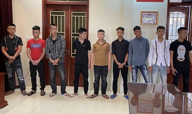 Nhóm thanh niên vác hung khí đi hỗn chiến bị bắt giữ