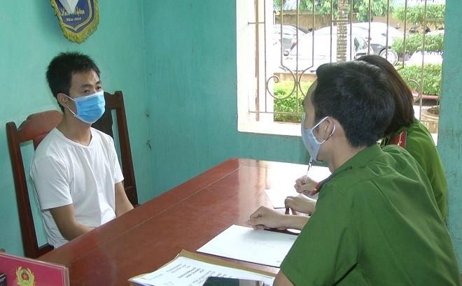 Đối tượng Đinh Quang Huy bị bắt giữ