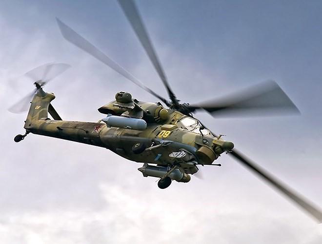 """[ẢNH] """"Thợ săn đêm"""" Mi-28N hủy diệt xe tăng khủng bố IS trong vỏn vẹn 10 giây ảnh 9"""