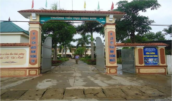 Trường tiểu học Đỉnh Sơn nơi xảy ra sự việc