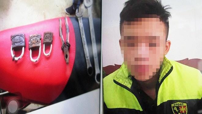 Nam thanh niên bị bắt khi lẻn vào phòng chủ tịch và trưởng công an xã để trộm đồ ảnh 1