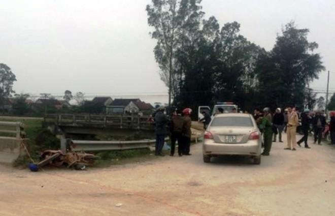 Hiện trường nơi xảy ra tai nạn khiến bà Đương tử vong tại chỗ