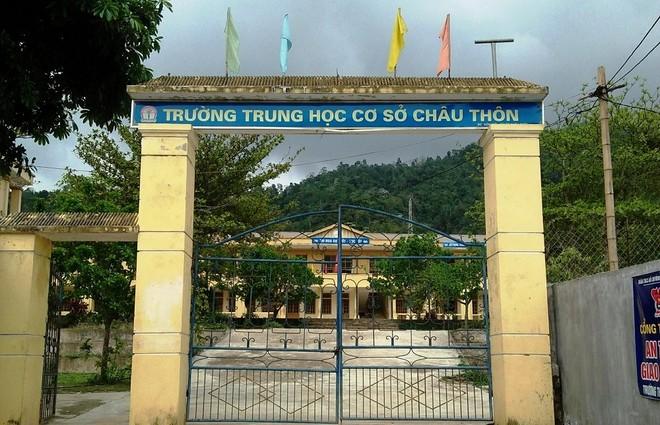 Trường THCS Châu Thôn nơi em D. theo học