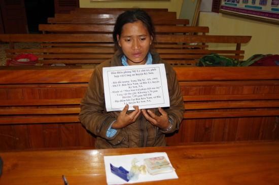 Theo đó, vào khoảng 18h15 ngày 5-4, tại khu vực bản Kèo Nam, xã Bắc Lý, Đồn Biên phòng Mỹ Lý, BĐBP Nghệ An, cùng với các đơn vị liên quan phát hiện, bắt giữ đối tượng Xi đang có hành vi buôn bán trái phép chất ma túy.