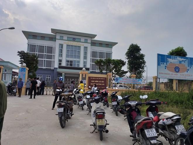 Bảo hiểm xã hội huyện Quỳnh Lưu nơi ông Thành được phát hiện đã tử vong