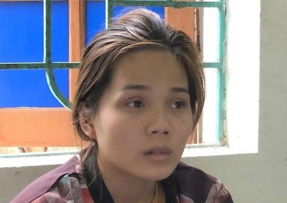 Lê Thị Lan Na tại cơ quan công an