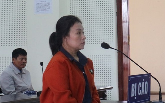 Nguyễn Thị Thu trong phiên xét xử